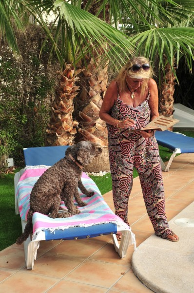 1  Joy Roberts-Barry with Aero and Asta her dogs at villa in Vera Spain  (14).JPG