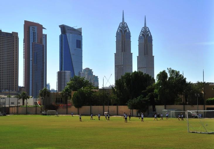 14 Playing fields at Dubai College.JPG