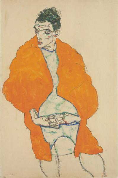 Egon Schiele, Standing male figure (self-portrait) 1914.jpg