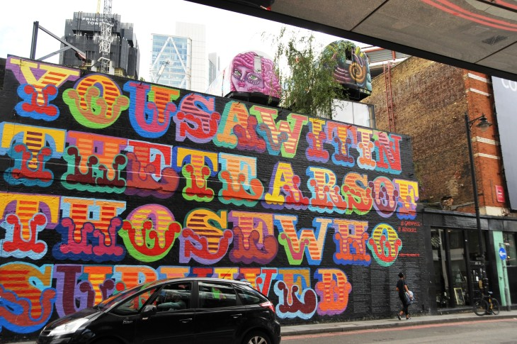 24 You saw it in the Tears of those who survived  mural commissioned to commenorate Grenfell.JPG