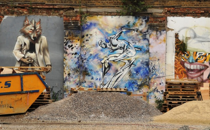 29 preserved graffiti wall in Shoreditch on site of new luxury apartments by Exclusive Residential group.JPG